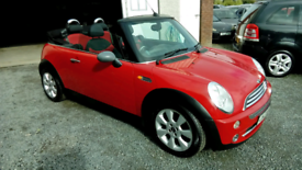 04 Mini One Convertible Red Mot 07/05/22 Elec Roof Great Driver