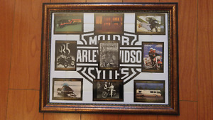 11x14 Framed HARLEY DAVIDSON Collector Cards.