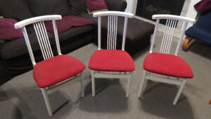 White lacquer kitchen chairs