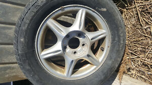 2 gm 5 bolt pattern rims and tire