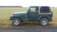 1999 Jeep TJ 4L sahara echnge contre pick up 3500$