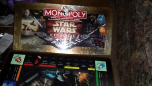 1999 COLECTABLE EDITION STARWARS MONOPOLY GAME