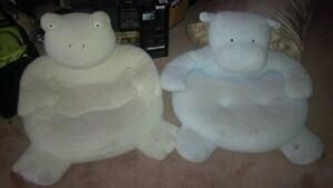 2 Toddler cushion animal seats from Pottery Barn