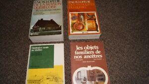 Livres pour mordus d'antiquités - 20 $ chacun