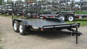 """New 2016 CANADIAN MADE """"Rainbow"""" Tandem Axle Utility Trailers"""