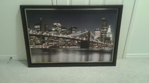 Cityscape Picture, framed