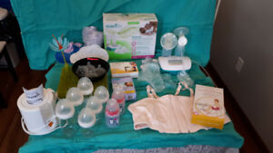 nursing & breast pump items(pump, pads, bottles, etc) $440 value
