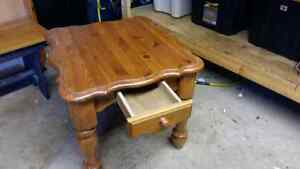 Solid wood end table/coffee table with drawer Windsor Region Ontario image 1