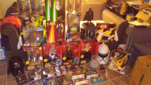 STAR WARS TOY COLLECTION - 38 ITEMS - BNIB