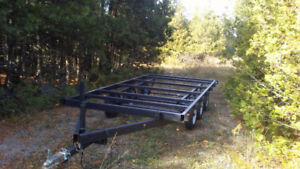 12 Ft triple axil TINY HOUSE OVER DECK TRAILER OR BUILDING MOVER