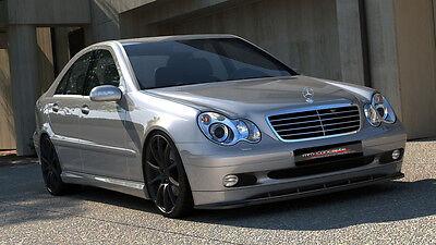 carbon Spoilerlippe Lippe Mercedes C Klasse W203 Bj. 00-04 Schwert Ansatz