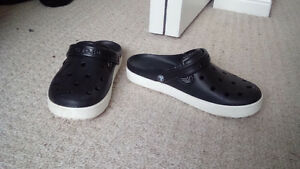 Black/White Crocs