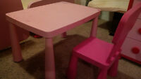 TABLE AND CHAIR FOR GIRL