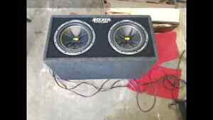Two 10 inch kicker subs in ported box.