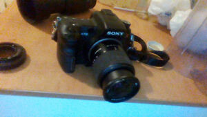 Sony A500 Body +17-75mm & 75-300 mm lens+ Accessories.