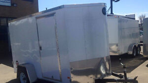 WELLS CARGO, ENCLOSED TRAILER  6X10 V NOSE