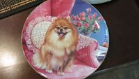 Pretty In Pink- Pomeranian Dog Collectors Plate