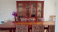 italian table,6 chairs and display