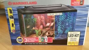 Marineland 10 Gallon BioWheel LED Aquarium Kit - ALMOST NEW
