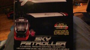 NEW UNOPENED 3 CHANNEL REMOTE CONTROL HEICOPER BY SKY PATROLLER Stratford Kitchener Area image 4