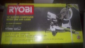 Ryobi- 10inch:  Sliding Compound Mitre Saw-Brand New