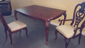 Beautiful heavy wood dining set