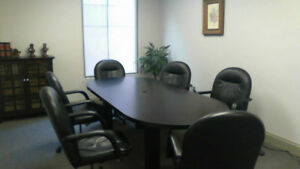Conference table and chairs, full set