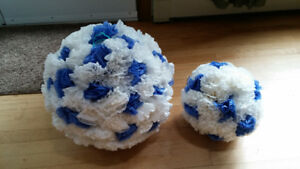 wedding supplies and decorations blue and white.  sold as one