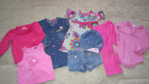 Girl's 9pcs summer set 18-24 months