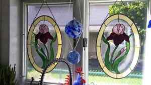2 Stained glass Iris window hangers Kingston Kingston Area image 2