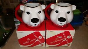 Vintage Coke Coca Cola Polar Bear Mug  With original boxes Edmonton Edmonton Area image 1