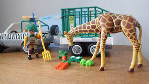Playmobil Zoo Vehicle with trailer (4855) for sale