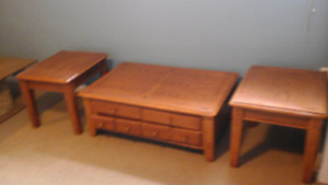 Wooden  coffe table set,  marble coffe table