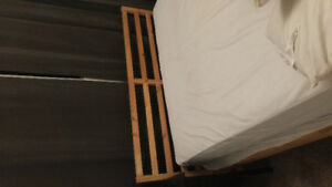 Ikea queen size bed and mattress
