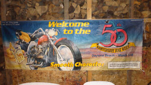 "Daytona Bike Week 50 th Anniversary Street Banner 96""x32''"