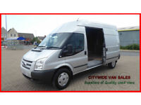 2013 Ford Transit 2.2TDCi 125PS EU5 RWD High Roof Silver Van 350 LWB Trend