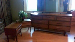 dresser, mirror and two nightstands