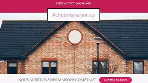 ACHETONS MAISONS PAYONS COMPTANT