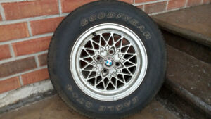1977 to 82 BMW 320i Aluminum RIMS and Tires