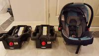 Graco SnugRide Click Connect 35 Car Seat with 2 Bases.