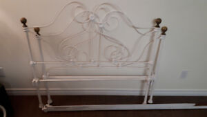 3/4 Antique Cast Iron Bed Frame and Sears-O-Pedic Mattress SOLD