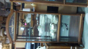 Matching display cabinets. 1square and 1 corner unit