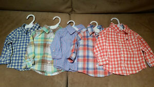 Five Carter's Dress Shirts