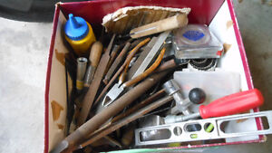 Small box of hand tools - odds & sods