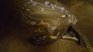 Only used twice! Awesome condition lady's bike helmet + gloves