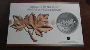 Farewell to the penny 20$ coin 2012