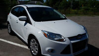 ford focus 2012 automatique blanche 55 500 km