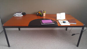 large dining room table (IKEA). Seats 8