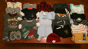 Box of 3-6 Month Boy Clothes