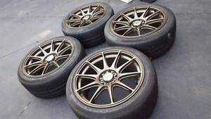 """Toyota jdm wheels & tyres 18"""" 5/100 5/114.3 Williamstown Hobsons Bay Area Preview"""
